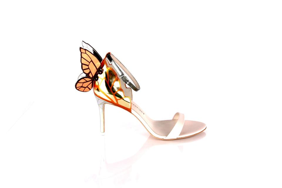 11b4605d768e Sophia Webster Sandals Chiara Butterfly Leather Nude Gold Formal Image 0 ...