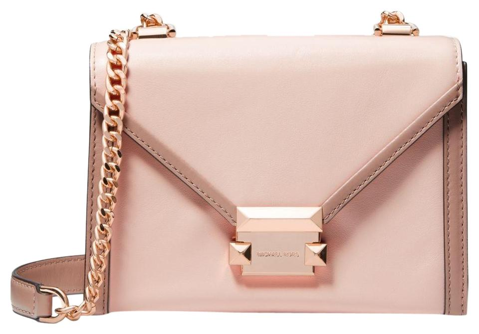 d9b868934bd5 Michael Kors Whitney Small Two-tone Convertible Soft Pink Leather ...