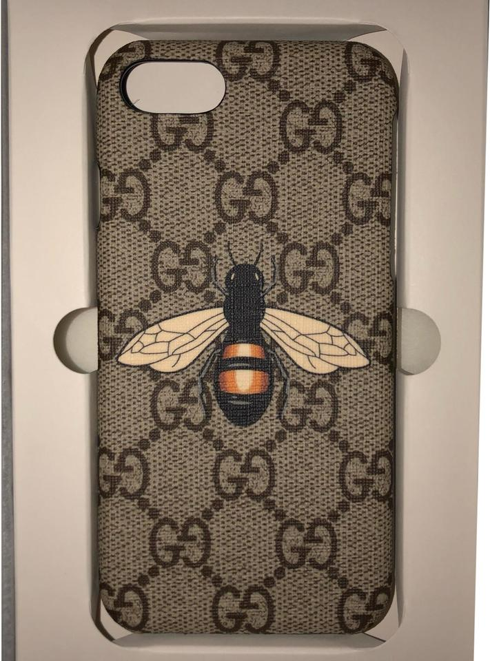 on sale d12e5 079dd Gucci Beige/Ebony Box Bee Print Iphone 8 Case (Not 8 Plus) In Never Used  Was A Gift Tech Accessory 30% off retail