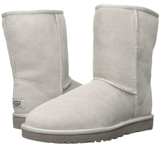 Item - White Ivory Grey Classic Short Shearling Sheepskin Ankle Winter Snow Sheep Leather Boots/Booties Size US 7 Wide (C, D)