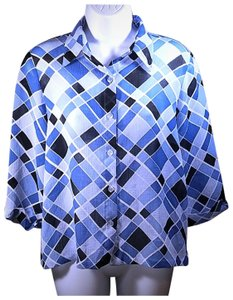 Alfred Dunner Top Blue
