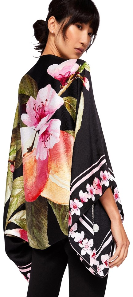 ddb7f8dc14824c Ted Baker Ted Baker Peachy Peach Blossom Silk Cape Scarf Image 0 ...