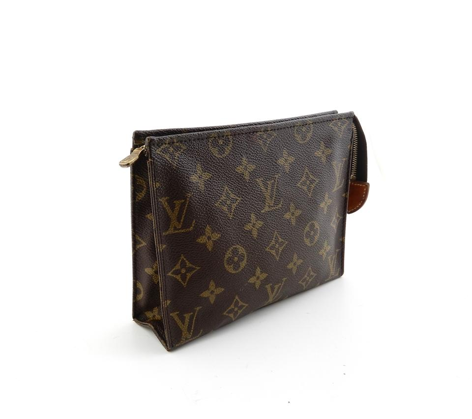 c5cc7dd04a7 Louis Vuitton Pochette 19 Monogram Canvas Toiletry Pouch Cosmetics Travel  Dopp Bag Image 0 ...