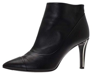Chanel Leather Ankle Black Boots