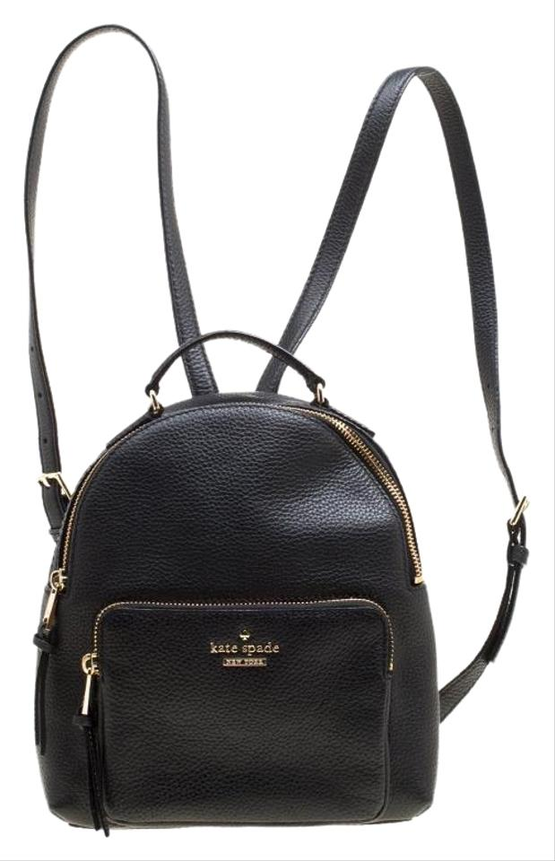 5fc7d76b5908 Kate Spade Jackson Black Leather Backpack - Tradesy