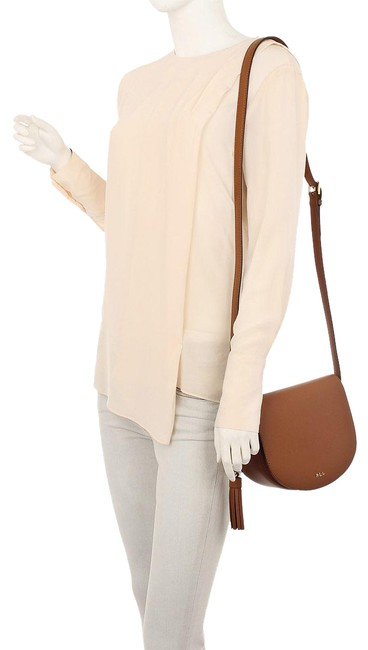 Item - Dryden Caley Mini Saddle Light Brown Leather Cross Body Bag