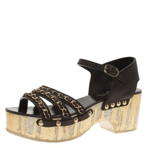 Chanel Leather Brown Sandals