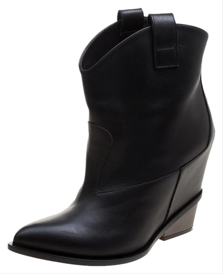 5a58ffec7c44 Giuseppe Zanotti Black Leather Pointed Boots Booties Size EU 41 ...
