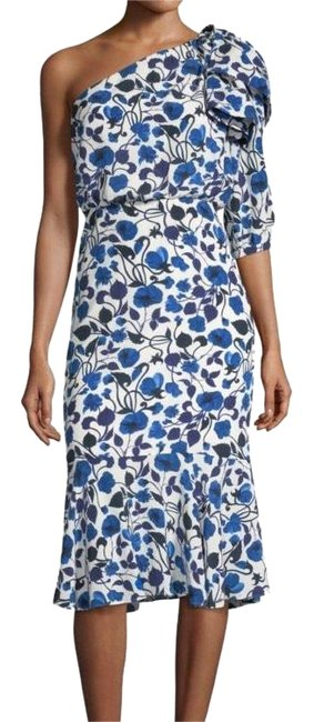 Preload https://img-static.tradesy.com/item/24817700/saloni-blue-and-white-juliet-silk-flounce-mid-length-cocktail-dress-size-8-m-0-3-650-650.jpg