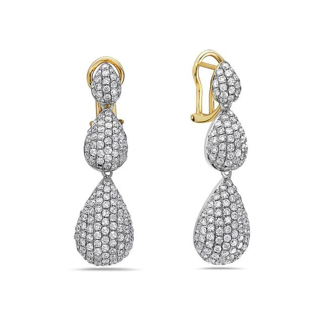 OMIJewelry 14k Yellow Gold Ladies with 3.60ct Diamonds Earrings OMIJewelry 14k Yellow Gold Ladies with 3.60ct Diamonds Earrings Image 1