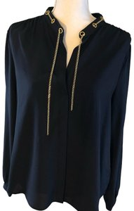 Michael Kors Studded Chain Top Navy Blue