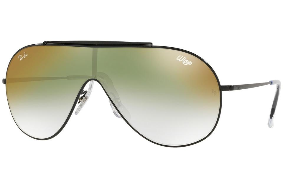 7d6c3ff53 Ray-Ban Wings Black Frame & Green Gradient Mirrored Lens Rb3597 002/W0  Single Style Unisex Sunglasses