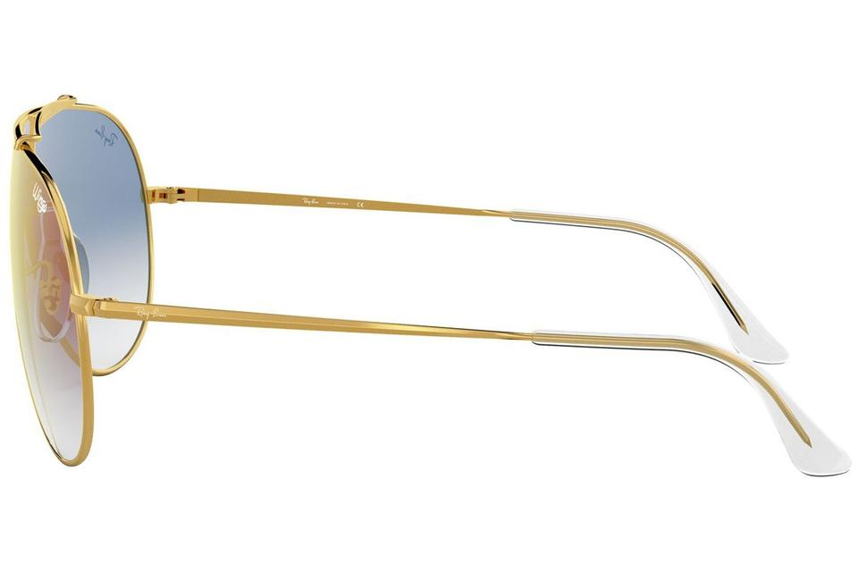 d0b75f1763 Ray-Ban Wings Gold Frame   Blue Gradient Mirrored Lens Rb3597 001 X0 ...