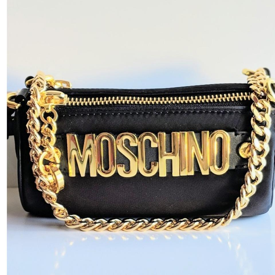 355bb44367 Moschino Shoulder Black Leather Cross Body Bag - Tradesy