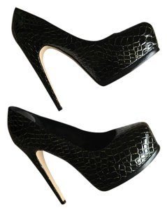 Truth or Dare by Madonna black and gold Platforms
