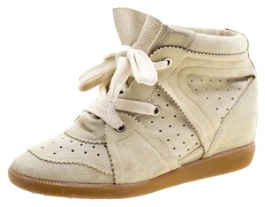 bb5c991590 Isabel Marant Suede Wedge Beige Flats. Isabel Marant Beige Suede Bobby Wedge  Sneakers Flats Size EU 40 (Approx. US 10) ...