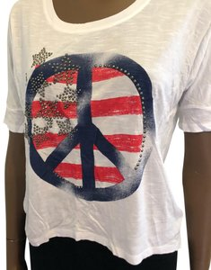 INC International Concepts T Shirt white, blue and red