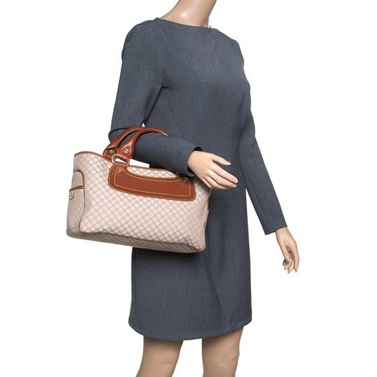 Céline Canvas Leather Tote in Beige