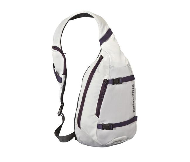 Item - Atom Sling 8l White and Purple Nylon (50% Recycled/50% High-tenacity) Backpack