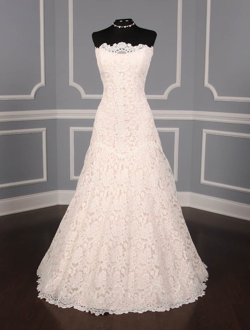 Item - Ivory / Blush Re-embroidered Lace L503 Formal Wedding Dress Size 12 (L)