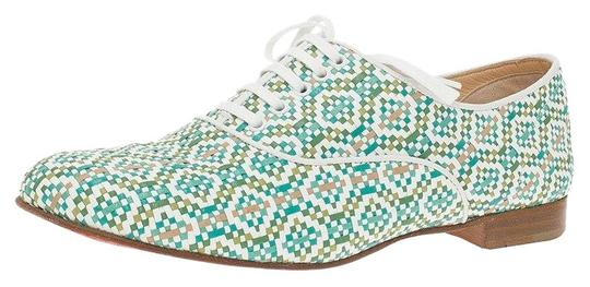 Preload https://img-static.tradesy.com/item/24818972/christian-louboutin-green-and-white-fred-woven-oxfords-flats-size-eu-38-approx-us-8-regular-m-b-0-1-540-540.jpg