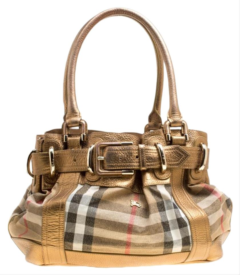 2e1c02a4ad4 Burberry metallic leather and house check bridle gold fabric tote jpg  840x960 Metallic bag burberry gold