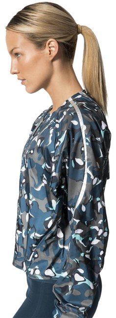 Item - Blue Grey (Nwt) Zip-front Printed Performance Activewear Outerwear Size 2 (XS)