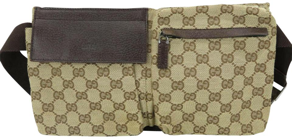 a0f386cae17 Gucci Gg Supreme Monogram Waist Fanny Pack Beige Canvas Cross Body ...