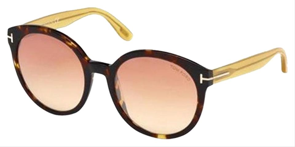 e5be33cd46 Tom Ford Philippa Havana Frame   Violet Smoke Mirrored Lens Tf0503 S ...