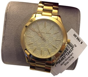 Michael Kors Michael Kors Slim Runway Champagne & Gold MK Logo Ladies Watch MK3335