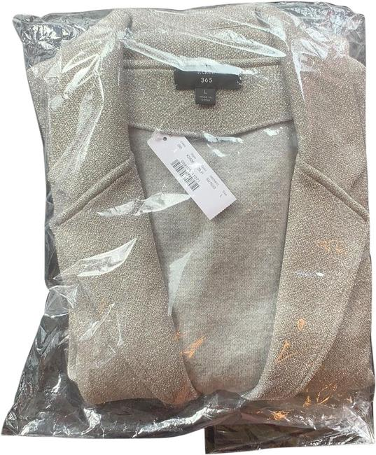 Item - Silver Sparkly Sophie Open Front Sweater Blazer Size 12 (L)