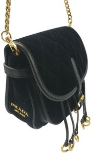 Prada Leather Fanny Pack Chain Cross Body Bag