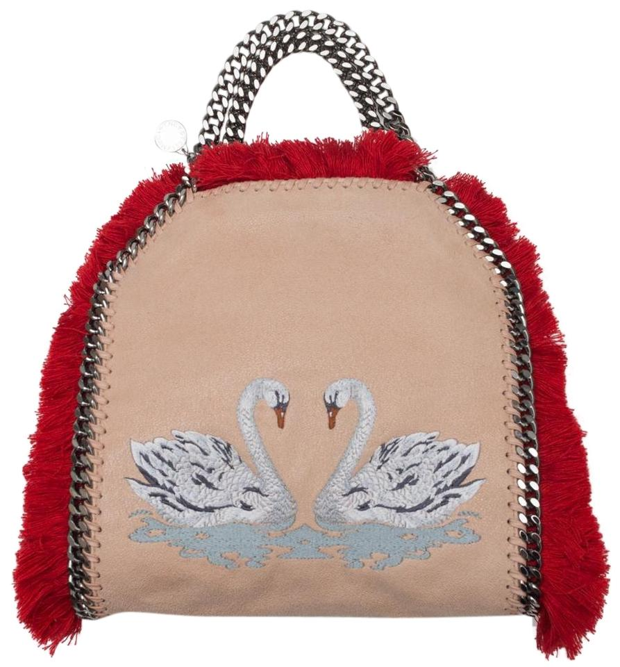 0b73a0596d1d Stella McCartney Falabella Swan Embroidery Faux Leather Tote - Tradesy