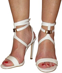 River Island Sexy Strappy Ankle Buckle Pretty White Sandals