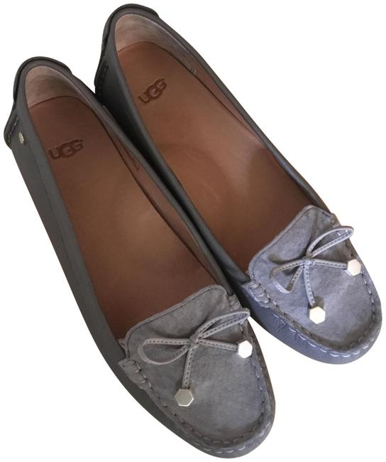 Item - Gray Stylish Driving Flats Size US 7.5 Regular (M, B)