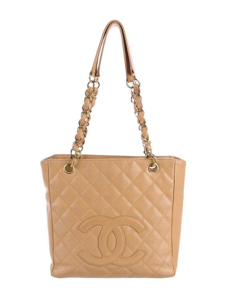 659080c9e79c75 Chanel Pst Petite Shopping Cc Logo Flap Classic Tote in Beige Gold tan  caramel Image 11. 123456789101112