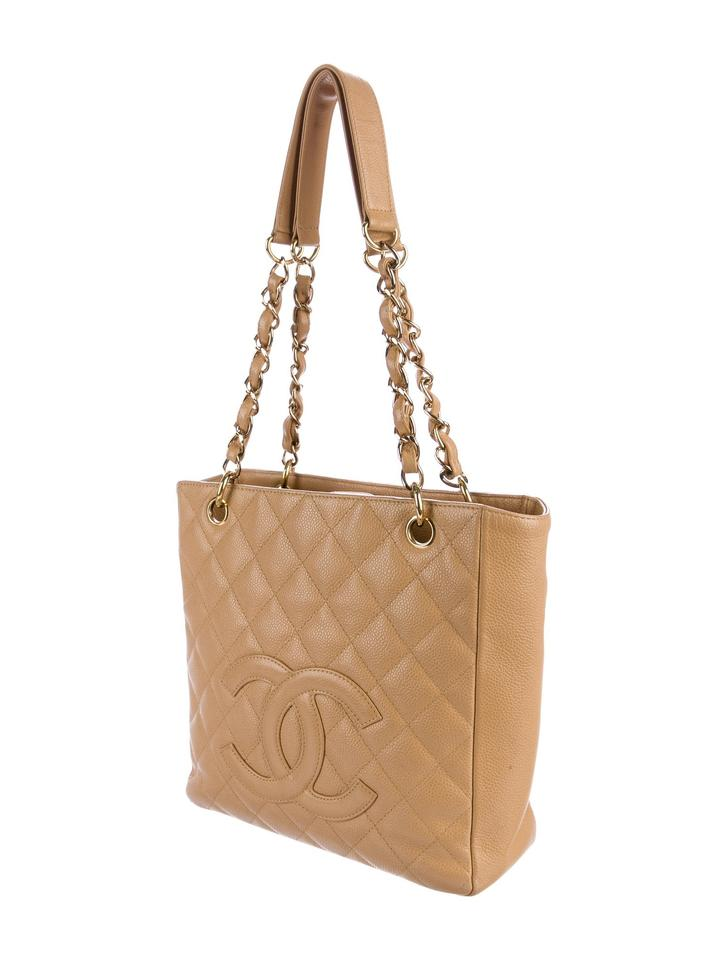 f0f6c1d90a04 Chanel Pst Petite Shopping Cc Logo Flap Classic Tote in Beige Gold tan  caramel Image 11. 123456789101112