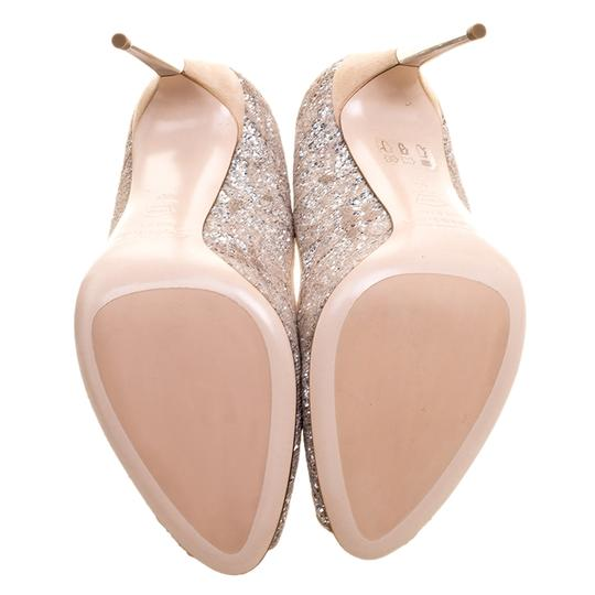 015ac248c Beige Lace and Silver Glitter Pumps Size EU 40 (Approx. US 10 ...