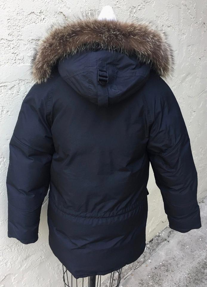 Jeans Down Parka Trim Size 4s Polo Coat Fur Puffer Hood Black S Ralph Lauren Jacket 54jLAR