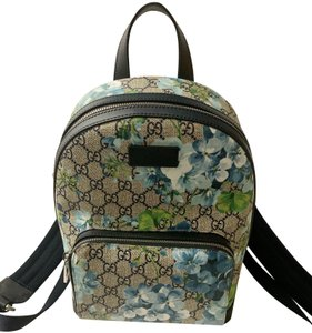e1131bfacdb Gucci Blooms Print Medium Beige Pink Red Gg Monogram Pvc Canvas ...