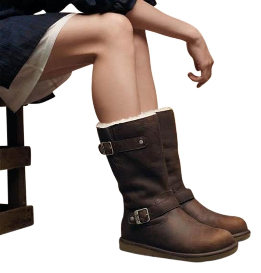 d98b6dcbb3a UGG Australia Brown Kensington Shearling Sheepskin Leather Engineer 5678  Boots/Booties Size US 9 Regular (M, B) 68% off retail