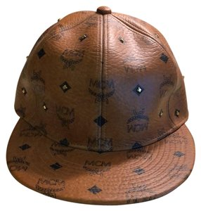 MCM Congac gold leather studded hat