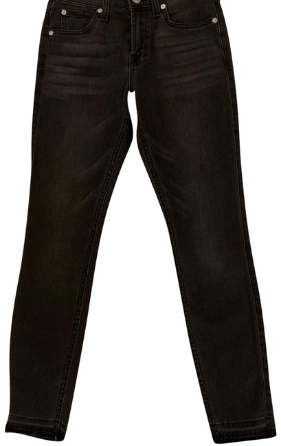 Item - Black Distressed Seven Gwenevere Skinny Jeans Size 0 (XS, 25)
