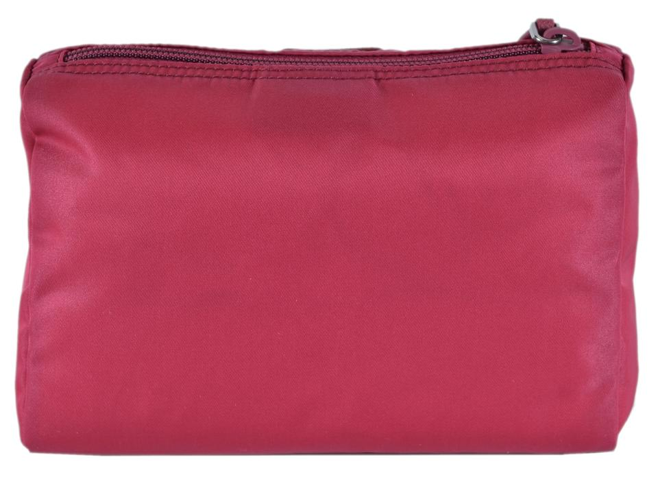 bd699430cc5b Prada New Prada Women's 1NA011 Ibisco Pink Nylon Cosmetic Makeup Bag Pouch  Image 5. 123456