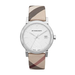 Burberry Burberry Watch BU9022 Heritage Nova Check Nylon and Leather Watch