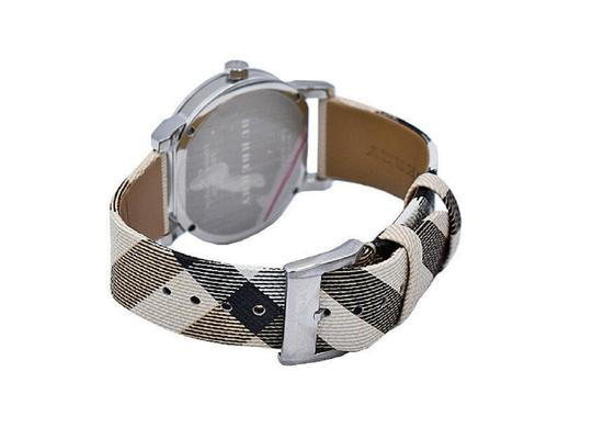 Burberry Burberry Watch BU9022 Heritage Nova Check Nylon and Leather Watch Image 1