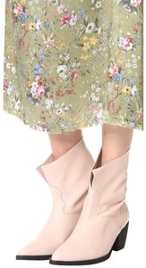 Free People Anthropologie Blogger Coachella Nude Slouchy Western Boots