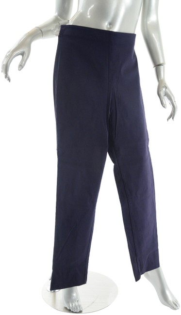 Item - Navy Rayon Blend Stretch Clean Front Pull On Pants Size 10 (M, 31)