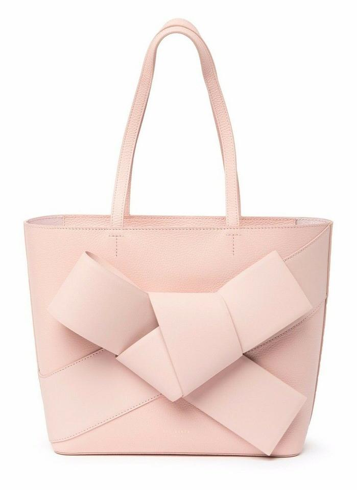 02e1143cdfce Ted Baker Allie Giant Knot Shopper Tote and Pouch Pink Leather Shoulder Bag