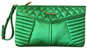 Miu Miu Wristlet in green